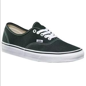 Vans authentic scarab green white sneaker shoes